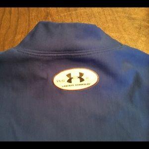 Under Armour Shirts & Tops - Under armor blue mock turtleneck Yth Lg cold gear